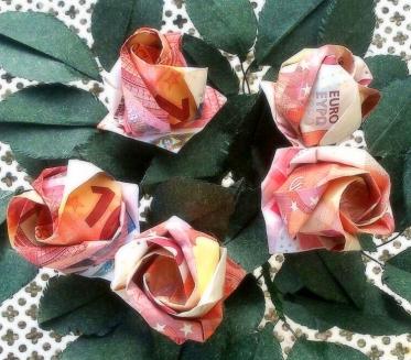 paper money bouquet