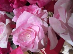 a paper rose