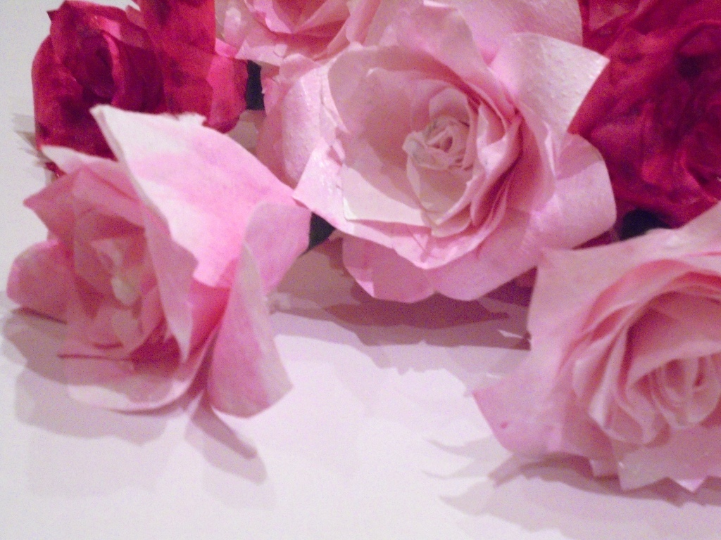 Working in a bunch of paper roses